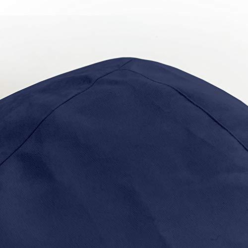 Lumaland Beanbag PUF otomano XL Plus Comfortline 220 lt sillón con Relleno Innovador y Costuras reforzadas.Azul Intenso