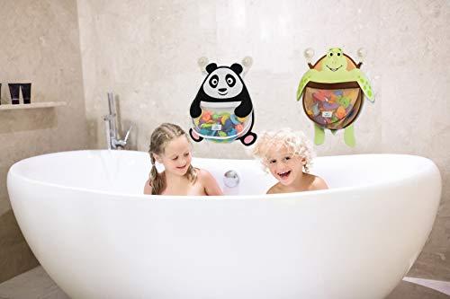 Nooni Care Organizador para Guardar Juguetes de Baño, Cesta de Malla Juguetes de Baño de Niños de Panda Grande, con Dos Ventosas de Gran Resistencia.