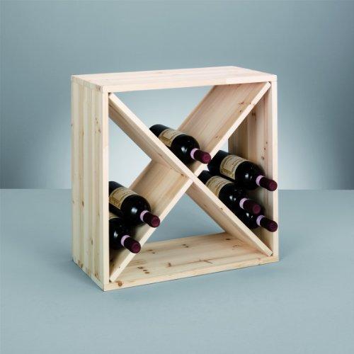 Zeller 13170 Botellero, Madera, Marrón, 52x25x52 cm
