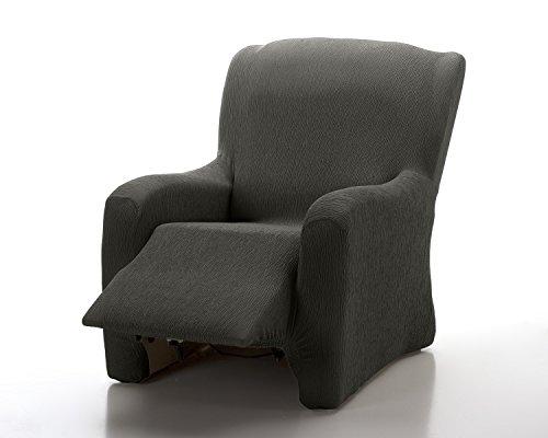 textil-home - Funda de Sillón Elástica Relax Completo Marian, Funda para Sofa - Tamaño 1 Plaza Desde 70 a 100Cm. Color Negro