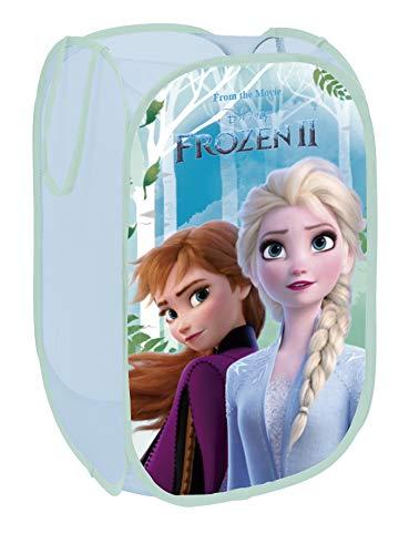 Superdiver Cesta Plegable Infantil de Tela con Asas - Motivo Disney Frozen 2 I Cubos Organizador para Ropa y Juguetes (58x36x36) Cuarto de Niños I Contenedor Habitacion Niñas I Cesto Dormitorio Bebe