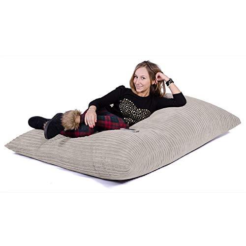 Lounge Pug®, Puff Gigante Cama XL, Pana Clásica - Crema