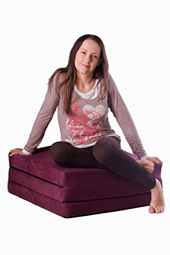 Natalia Spzoo Cama de invitados, colchón plegable 195 x 65 x 8 cm (Rosa)