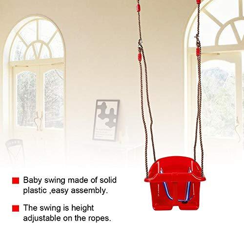 EBTOOLS Columpio Infantil para Casa o Exterior, Columpio para Silla Colgante, Columpio de Capacidad de Carga máxima 150 kg (Rojo)