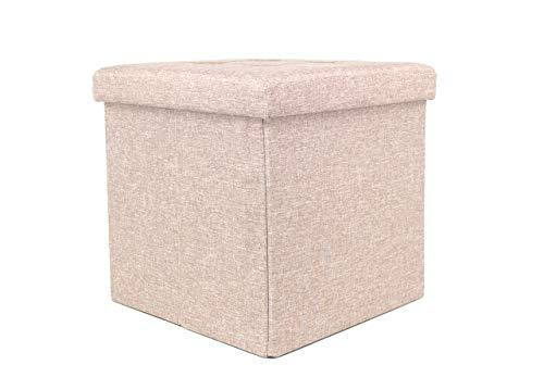 Biancheriaweb Sonni Puff Liner cálido y profundo con productos de colombi Puf contenedor acolchado plegable modelo Liner color café 38 x 38 x 38 cm