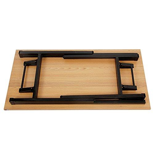 Need Mesa Plegable 120x60cm Mesa de Ordenador Escritorio de Oficina Mesa de Estudio Puesto de trabajo Mesas de Recepción Mesa de Formación, Teca color & Blanco pata