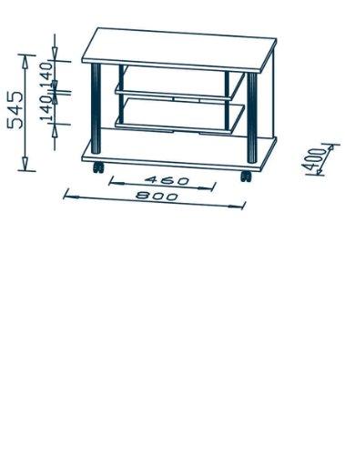 Maja 18988831 - Mueble con Ruedas para el televisor, imitación Haya (800 x 545 x 400 mm)