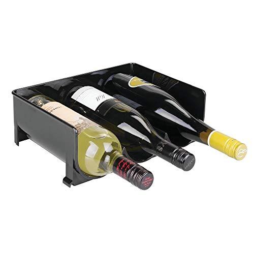 mDesign Estante para botellas – Ahorre espacio gracias a este botellero apilable y tenga siempre ordenadas sus botellas de vino – Perfecto botellero para 12 botellas