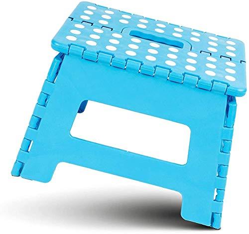 Hanselhome Taburete Plegable de Plástico Azul 28 x 21 x 22 cm