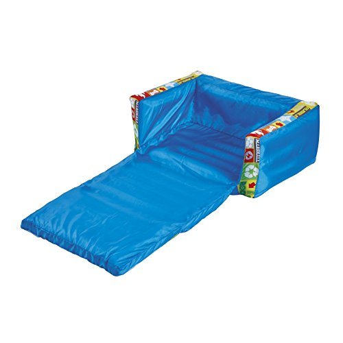 Paw Patrol Mini sofá y Tumbona desplegable 2 en 1, Poliéster, Azul, 26.00x68.00x105.00 cm