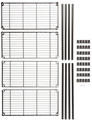 AmazonBasics - Estantería con 4 baldas, negro