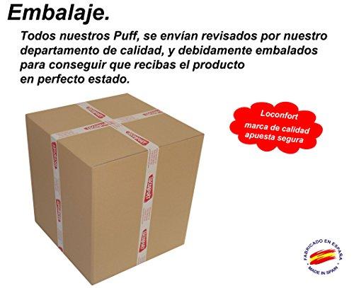 loconfort-Puff DE Pera XL, 25 Colores Envio 24/48 Horas, Fabricado EN ESPAÑA. 3 AÑOS DE Garantia, (85X85X135) Poli Piel Verde Manzana (XL Adulto, Pistacho)