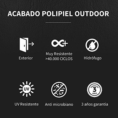 HAPPERS Puff Pera Polipiel Outdoor Crudo XL