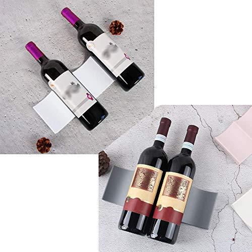 SoundZero 2 Piezas Estante para Botellas de Vino de Estilo Europeo plástico, Botellero apilable Horizontal para Botellas de Vino, Soporte para Botellas de Vino para frigorífico Bar,Gabinete, Despensa