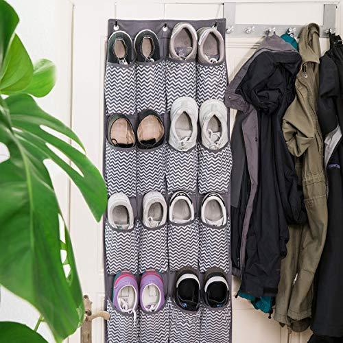 Navaris Organizador de Zapatos para Colgar - Zapatero de Tela para Puertas armarios - Almacenaje con 20 Bolsillos para Juguetes Ropa Interior