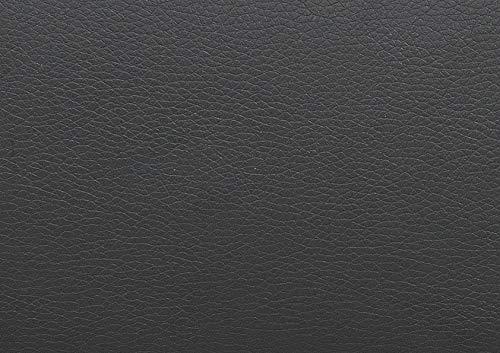 Confort24 John Hogar Sofá Cama 3 Plazas o 4 Plazas Chaise Longue Derecha o Izquierda Esquinero Reposacabezas Ajustable 2 Puffs Negro Salon Decoración de Hogar Polipiel Piel Sintética Negro