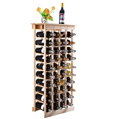 COSTWAY Estante de Vino Botellero para 44 Botellas Madera Armario para Vino Soporte Minibar