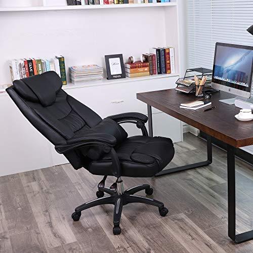 SONGMICS Silla de Oficina Silla giratoria Silla Gaming con Reposacabezas Tamaño supergrande Diseño ergonómico OBG76B