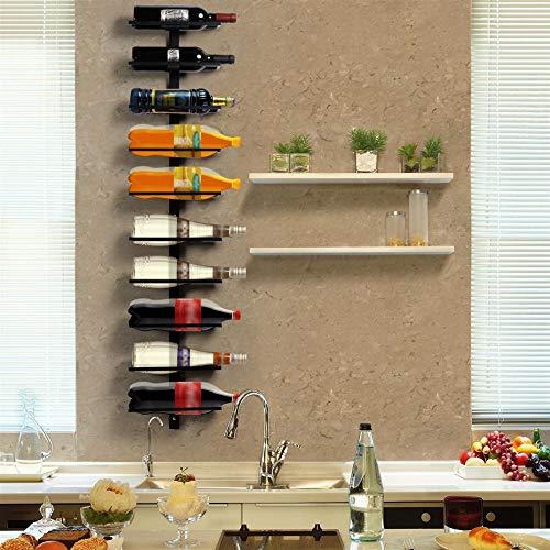 Yaheetech Botellero de Vino de Pared con 10 Botellas Soporte Hierro Estante de Vino