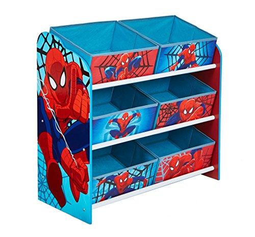 Hello Home Unidad de almacenamiento de juguete con 6cubos de Madera, Azul, 30 x 63.5 x 60 cm