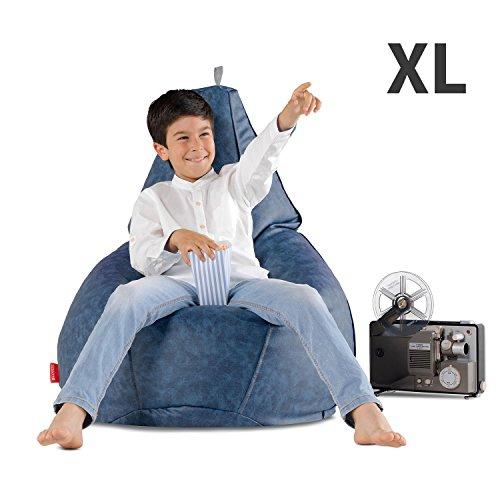 HAPPERS Puff Pera sin Relleno Polipiel Indoor Negro XL