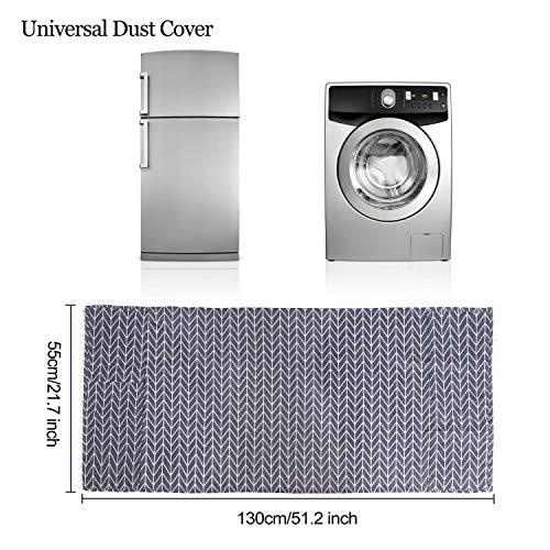 Cubierta de Polvo Superior del Refrigerador Protector Multiusos de Guardapolvo con Bolsa de Almacenamiento Adecuado para Refrigerador De Una Sola Puerta y Lavadora 55x130cm (Flechas Gris) 1 Pieza