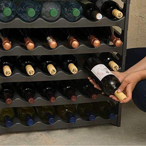 Grizzly — Botellero para vinos — Hasta 36 botellas — Antracita — 6 módulos apilables