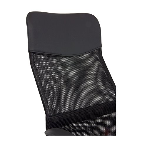 Cashoffice - Silla de Oficina - Silla de Escritorio con respaldo transpirable - Color Negro