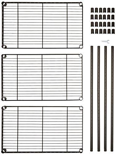 AmazonBasics - Estantería con 3 baldas, negro