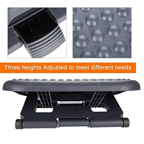 AYNEFY - Reposapiés de ángulo ajustable, altura regulable 7 – 15 cm, antideslizante, para oficina, hogar