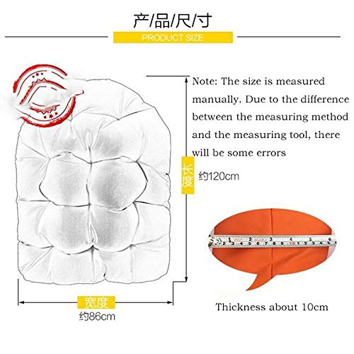 El Columpio Cesta Colgante cojín del Asiento, a Prueba de Agua Espesar Colgantes de Huevo Hammock Chair Pads for Patio Jardín, Color Multi for Elige 90x120cm (Sin Silla Colgante) (Color : B)
