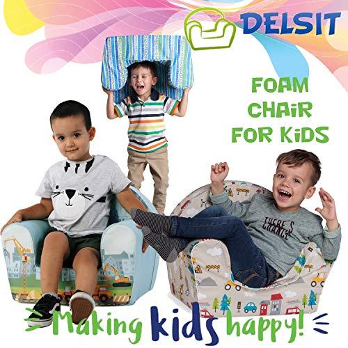 Delsit - Sillón infantil universal verde Talla:UNI
