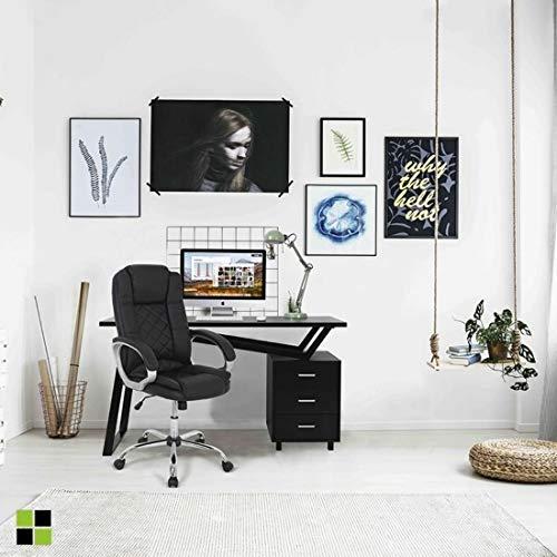 MOMMA HOME Silla de Oficina - Modelo Cash - Silla de Oficina Ergonómica - Elegante y Moderna - Máxima Comodidad - Materiales duraderos - Medidas 65,5 x 70 x 109-118,5 H cm - Color Negro
