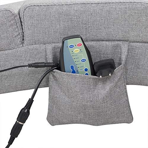 Casaria Chaise Longue sillón Tumbona Acolchada London Interior Silla reclinable Gris función de Masaje y calefacción