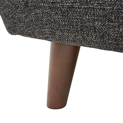 Marca Amazon -Rivet Hawthorne - Butaca capitoné estilo Mid-century Modern (gris caviar)