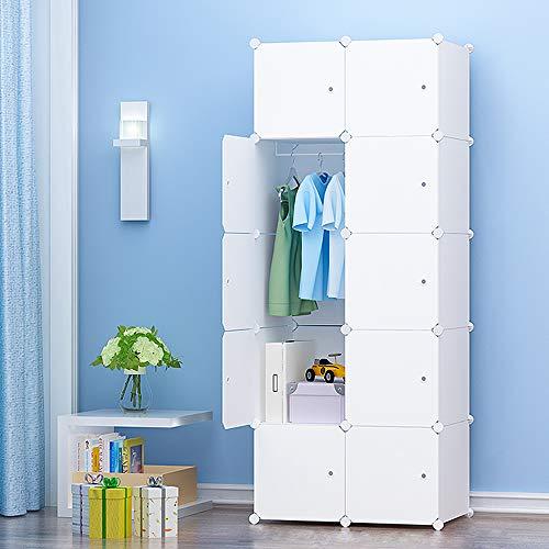 PREMAG - Guardarropa portátil para colgar ropa, armario combinado, armario modular para ahorrar espacio, organizador ideal para libros, juguetes