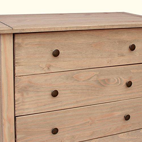Vida diseños de Acabado Panama Solid Pino Macizo Muebles De Dormitorio cajones, Madera, Natural
