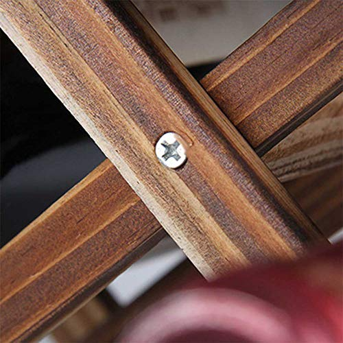 XQK - Botellero de madera con capacidad para 10 botellas, plegable, de madera natural, estante de almacenamiento para vino, para mostrar, decorativo, gabinete, bar