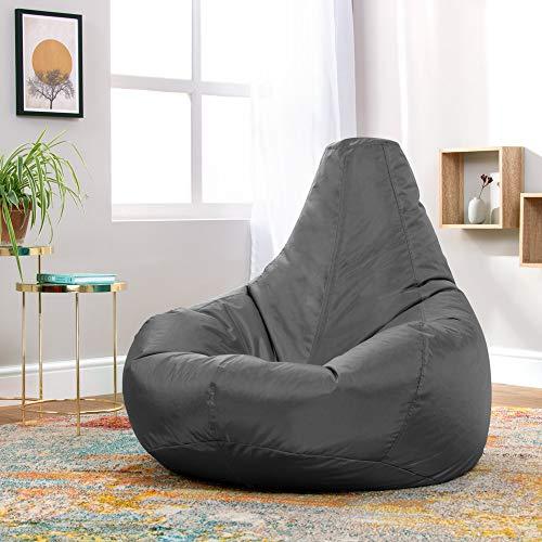 Bean Bag Bazaar Reclinable de Diseñador, Puffs Pera para Interior-Exterior Grande, Resistente al Agua, Silla Tipo Puf para Videojuegos, Sala de Juegos
