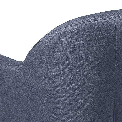 Amazon Brand - Movian Lina - Silla relax, 82 x 84 x 82 cm (largo x ancho x alto), azul oscuro, patas de haya lacadas