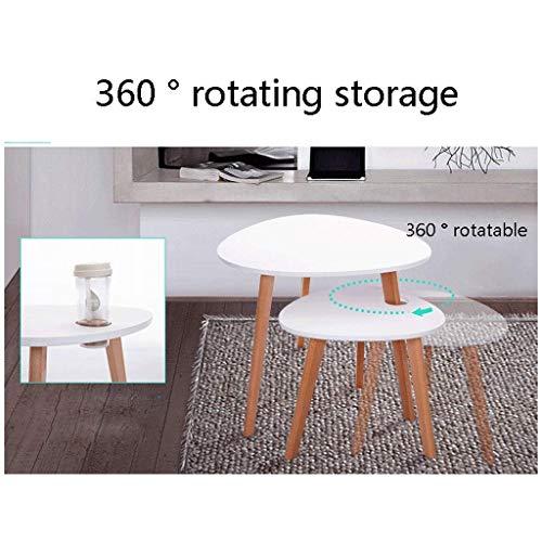 Mesa de Centro Unos Pocos sofás Laterales, Mesa de Noche Armario de Madera Sofá nórdico pequeño para Sala de Estar Mesa de Centro Easy (Color: Negro)