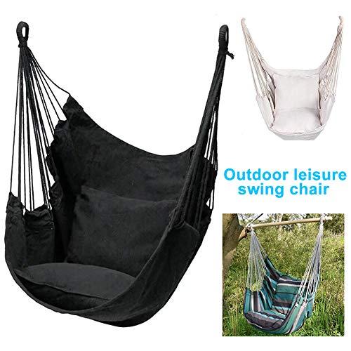 Hamaca colgante silla, cómodo asiento oscilante con cojín para jardín interior o exterior, patio, dormitorio, sala de estar
