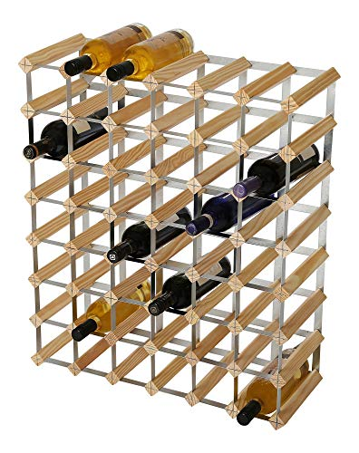 RTA 49 Botellas de Vino Tradicional – Kit de Madera de Pino Natural (FSC)