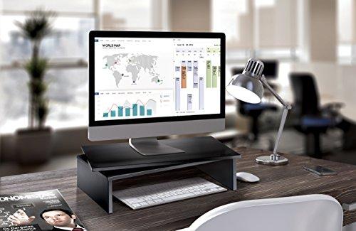Meliconi Space LCD M - Mesa para TV con plato giratorio, color negro