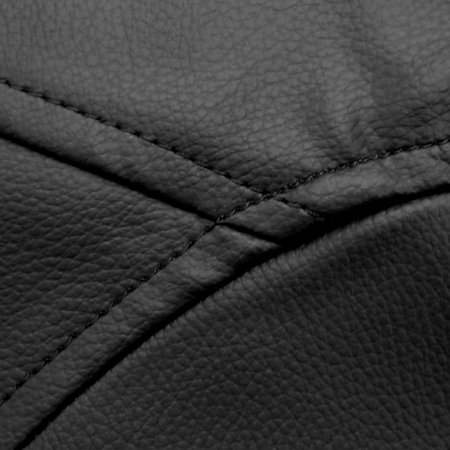 "Bean Bag Bazaar ""Reclinable de diseñador, Negro, 90cm x 73cm, Silla Tipo Puff para Videojuegos, Cuero sintético, Pufs para Sala de Estar"