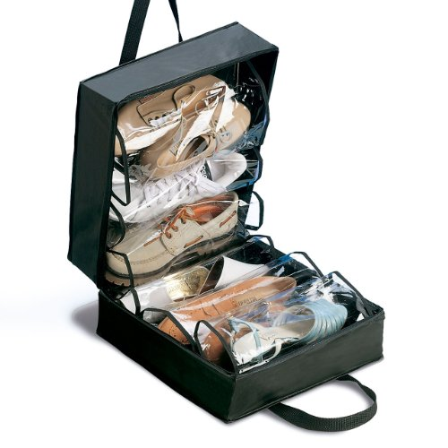 Rayen Maleta para Zapatos, 35x32x17, Negro, Madera, 35 x 32 x 17 cm