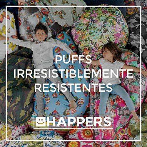 HAPPERS Puff Pera Polipiel Interior Negro XL