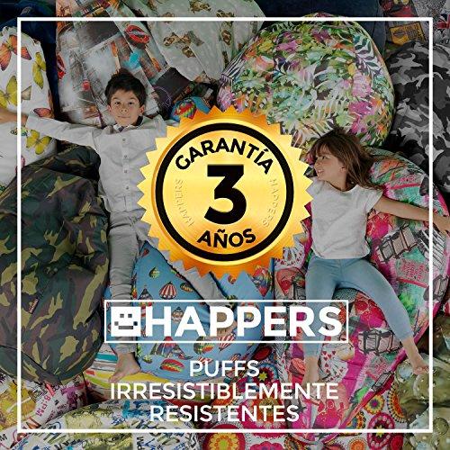 HAPPERS Puff Butaca Polipiel Indoor Blanco Infantil