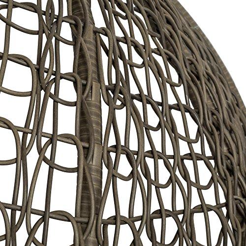 TecTake Sillon Colgante con Soporte de Acero Robusto Jardin terraza (Marron | No. 401776)